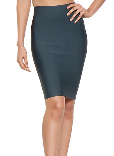 Solid Bandage Skirt,HUNTER,large