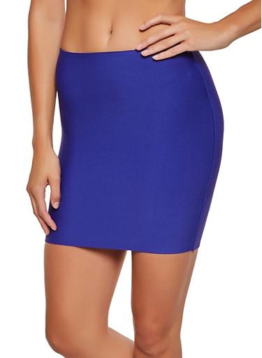 Ponte Mini Pencil Skirt,RYL BLUE,large