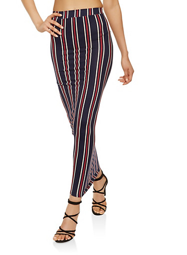 Striped Maxi Skirt,NAVY,large
