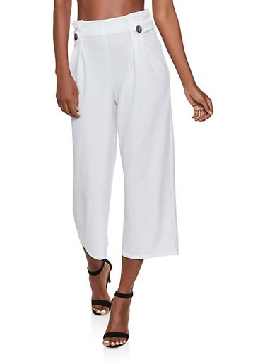 Pleated Dress Pants,IVORY,large