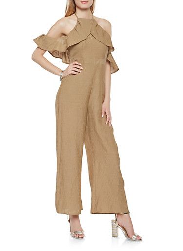 Ruffled Halter Neck Jumpsuit | Tuggl