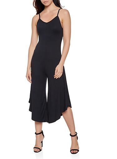 Cami Gaucho Jumpsuit,BLACK,large