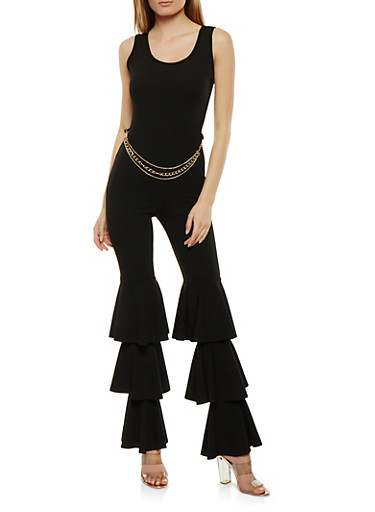 Tiered Leg Chain Jumpsuit | Tuggl