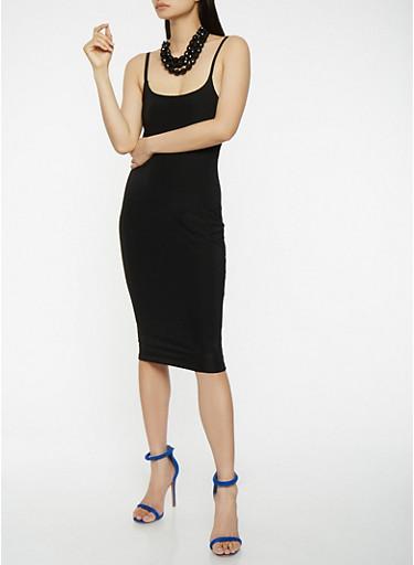 Solid Slip Dress | Tuggl