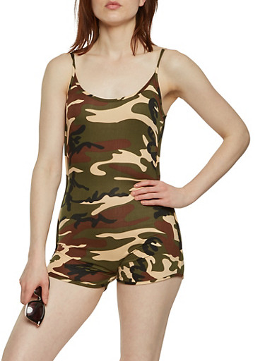Soft Knit Camo Catsuit | Tuggl