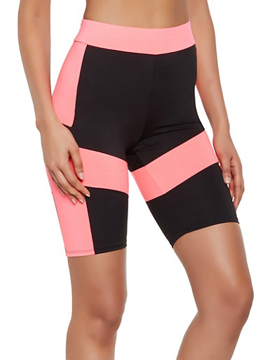 Color Block Active Bike Shorts by Rainbow