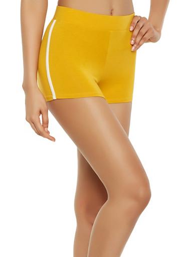 Athletic Shorts,MUSTARD,large