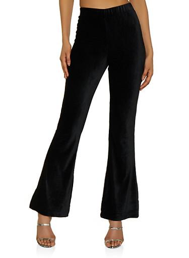 Flared Corduroy Pants,BLACK,large