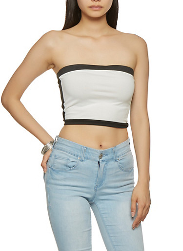 Contrast Trim Tube Top | Tuggl
