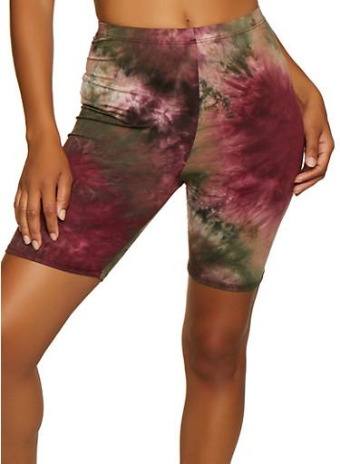 Tie Dye Bike Shorts | 3413063408801,OLIVE,large