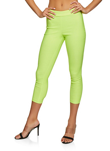 Neon Stretch Pull On Pants,LIME,large