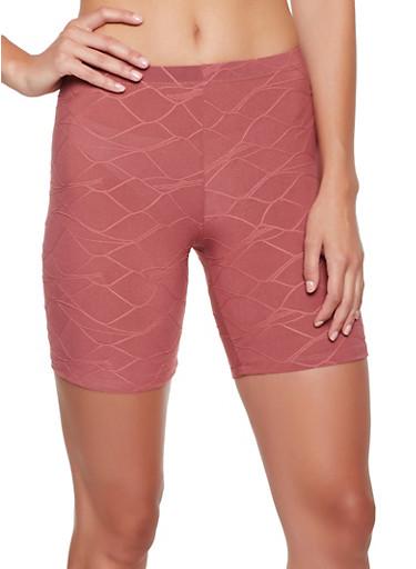 Decorative Stitch Bike Shorts,ROSE,large