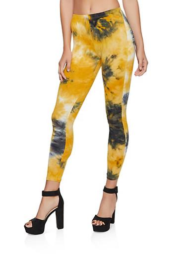 Tie Dye Leggings | 3413072248001,MUSTARD,large