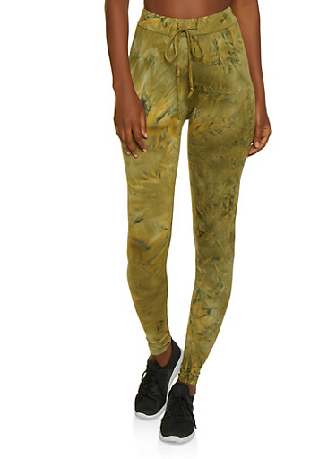 Tie Dye Leggings   3413072293113,OLIVE,large