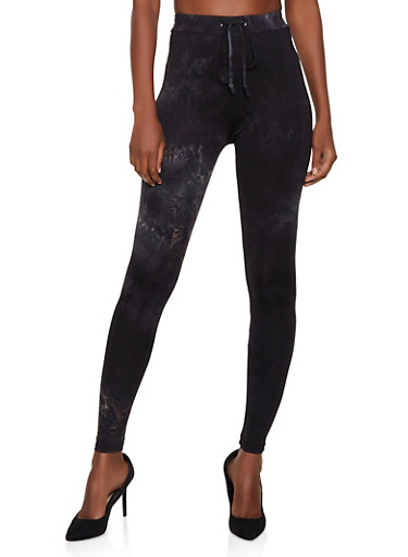Tie Dye Soft Knit Leggings | 3413072292074,BLACK,large