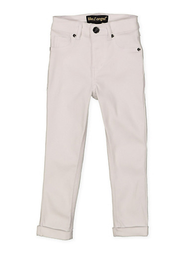 Girls 4-6x Hyperstretch Pants,WHITE,large