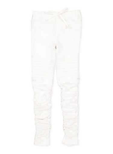 Girls 7-16 Hyperstretch Moto Jeggings,WHITE,large