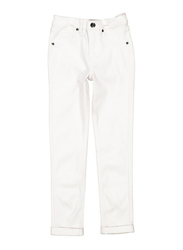 Girls 7-16 Hyperstretch Pants,WHITE,large