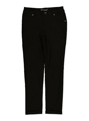 Girls 7-16 Hyperstretch Skinny Pants,BLACK,large