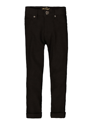 Girls Hyperstretch Skinny Pants,BLACK,large