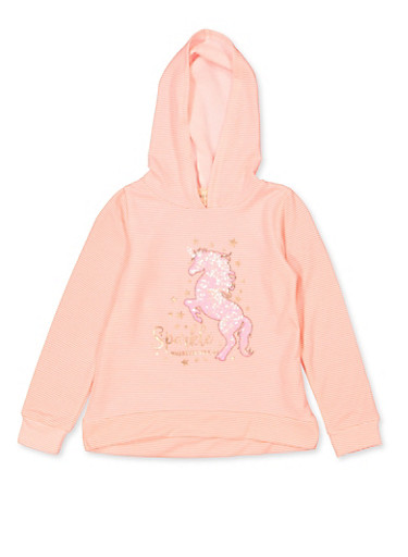 Girls 7-16 Sparkle Wherever You Go Sweatshirt,CORAL,large