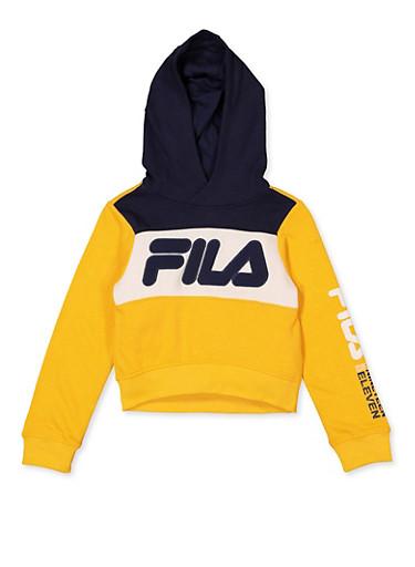 Girls 7-16 Fila Color Block Sweatshirt,ORANGE,large