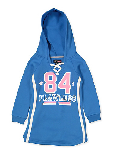 Girls 4-6x 84 Flawless Sweatshirt Dress,RYL BLUE,large