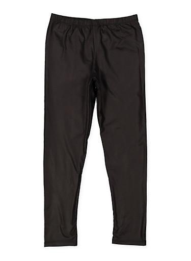 Girls 7-16 Textured Faux Leather Leggings,BLACK,large