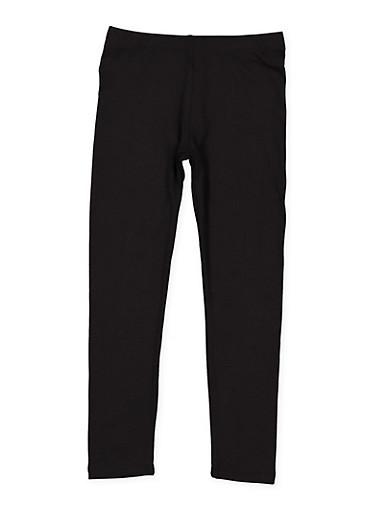 Girls 4-6x Black Leggings,BLACK,large