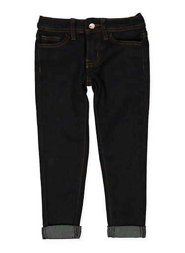 Girls 4-6x Dark Wash Skinny Jeans,DENIM,large