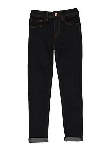 Girls 7-16 Dark Wash Skinny Jeans,DENIM,large