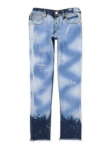 Girls 7-16 Cloud Wash Skinny Jeans,DENIM,large