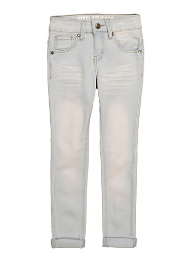 Girls VIP Rolled Cuff Jeans,DENIM,large