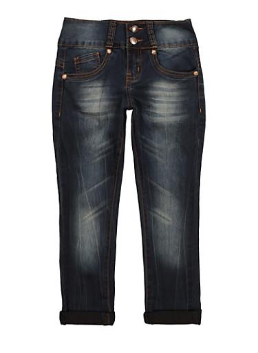 Girls VIP Whiskered Jeans,DENIM,large
