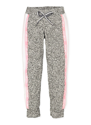 Girls 7-16 Flawless Graphic Joggers,CHARCOAL,large