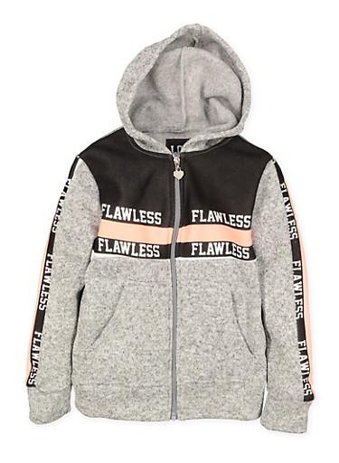 Girls 7-16 Flawless Graphic Sweatshirt,GRAY,large