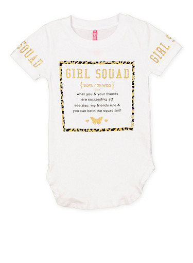 Girls 4-6x Girl Squad Graphic Tee,WHITE,large