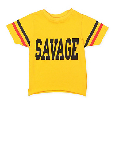 Girls 7-16 Savage Graphic Tee,MUSTARD,large