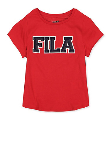 Girls 7-16 Fila Tee   Red,RED,large