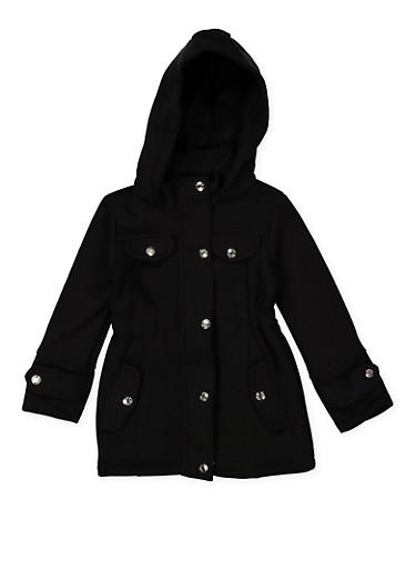 ca7d0e592 Girls 4-6x Hooded Button Front Jacket - Rainbow