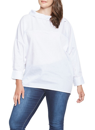 Plus Size Dolman Sleeve Top | Tuggl