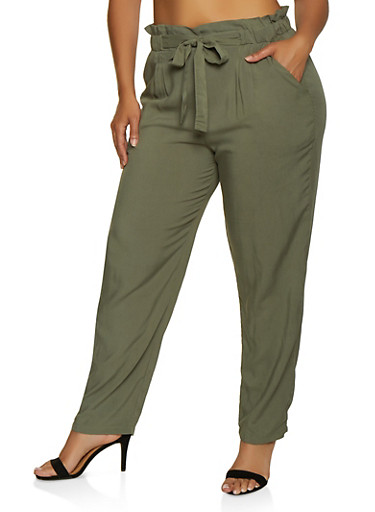 Plus Size Lightweight Trousers by Rainbow
