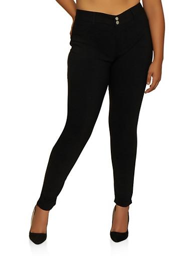Plus Size VIP Black Skinny Jeans,BLACK,large