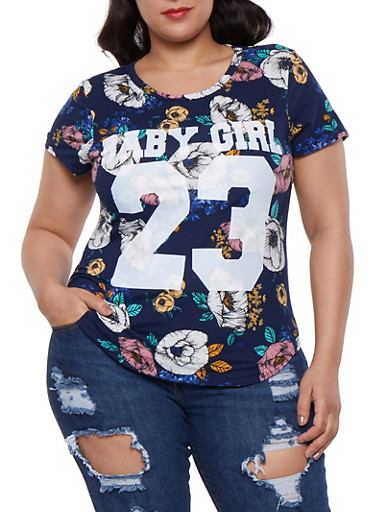 Plus Size Baby Girl Graphic Tee | Tuggl