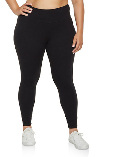 Plus Size Soft Knit Leggings | 3969061639184 by Rainbow