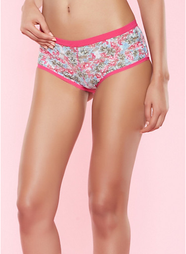 Floral Lace Panty,PINK,large