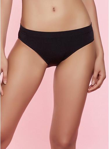 Seamless Bikini Panty | Black,BLACK,large