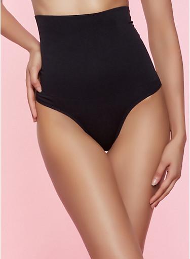 Shapewear Thong Panty | Black,BLACK,large