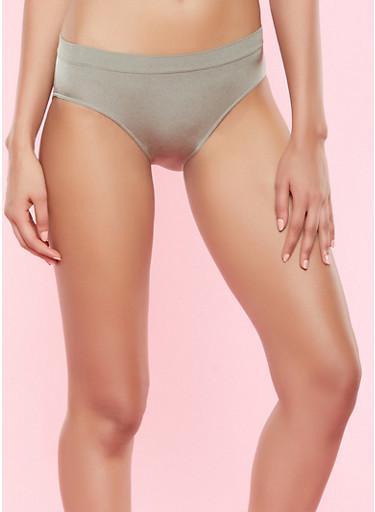 Seamless Bikini Panty,OLIVE,large