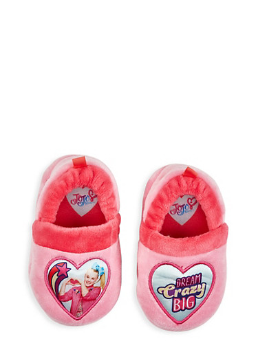 Girls 5-12 JoJo Siwa Dream Crazy Big Slippers,FUCHSIA,large